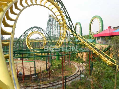 Four Loop Roller Coaster Rides