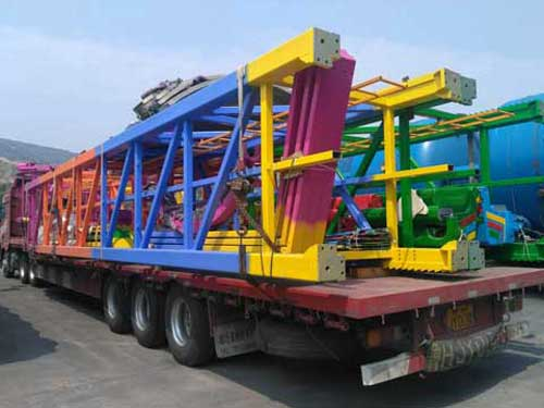Shipping Parts of Beston Swing Tower Rides
