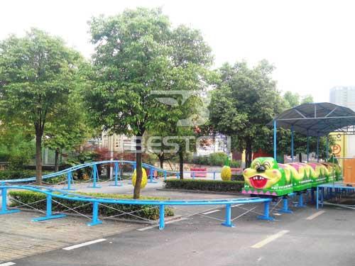 Green Worm Roller Coaster