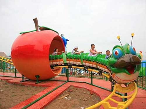 Green Worm Kiddie Roller Coaster for Sale