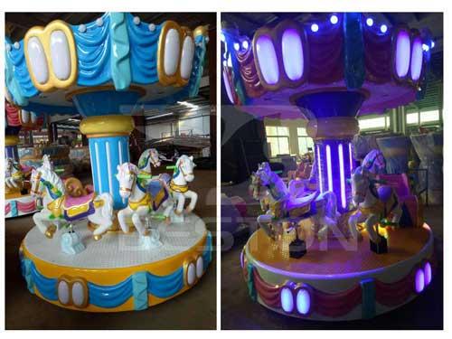 6 Seat Mini Carousel Rides for Philippines