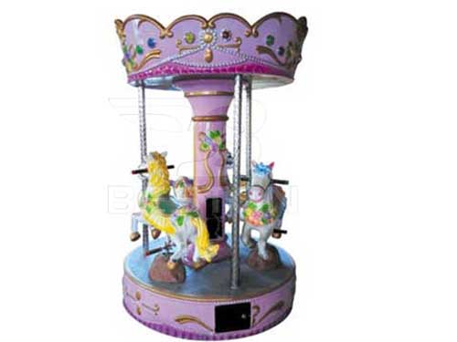 Pink Mini Carousel With 3 Seat for Philippines