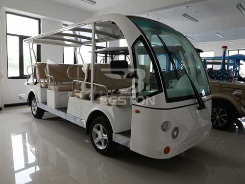 White Electric Shuttle Bus for Philippines